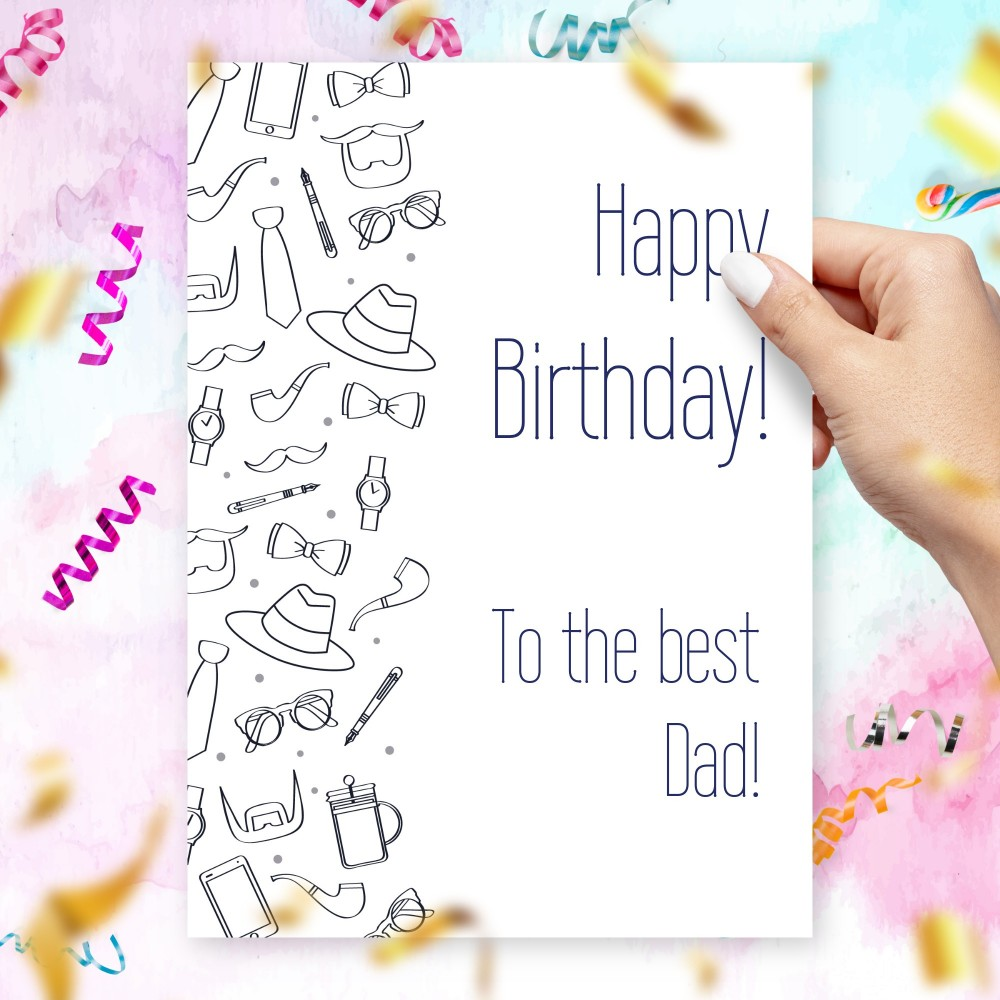 Customize and Download Birthday Card To The Best Dad