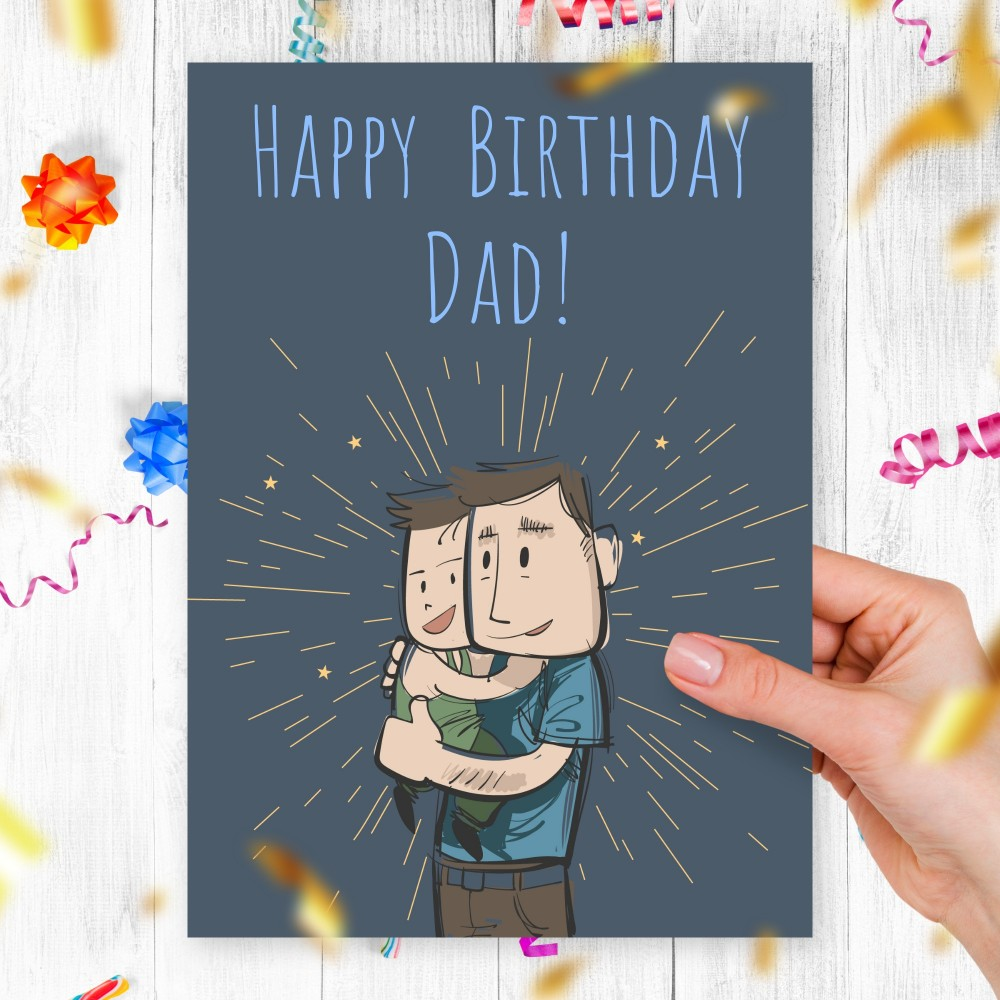 Customize and Download Birthday Card to Dad from Son