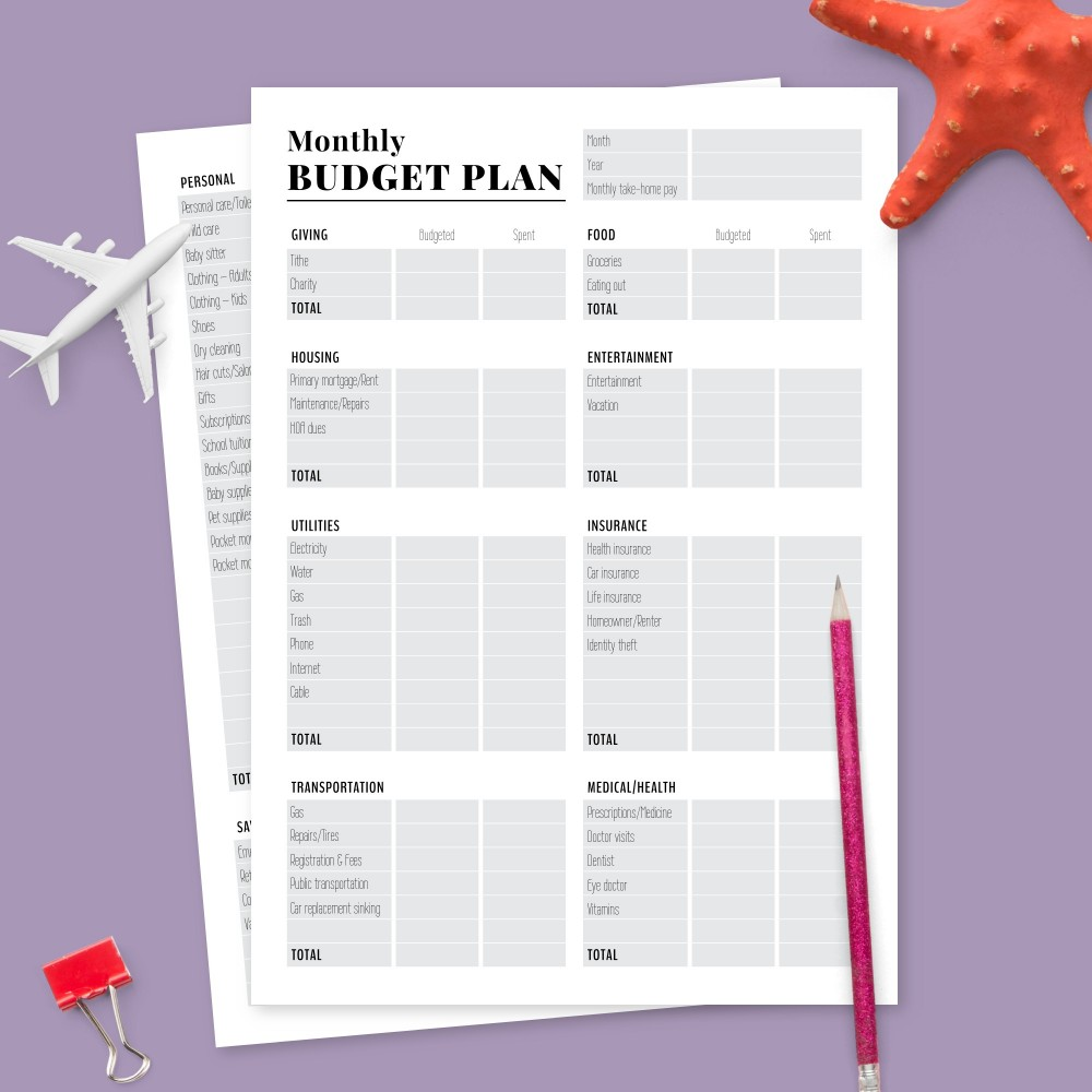 Budget Planner Templates Download Printable Pdf