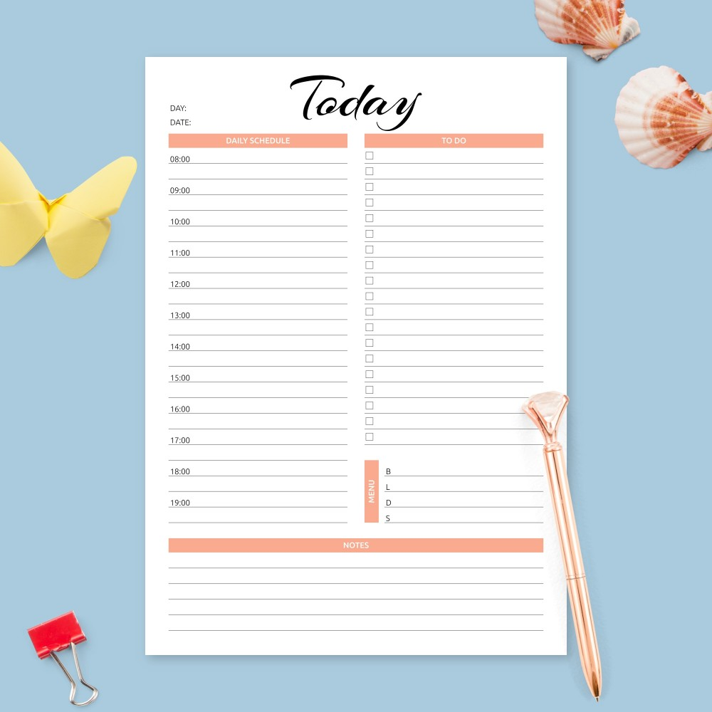 Download Printable Daily Appointment Planner Template