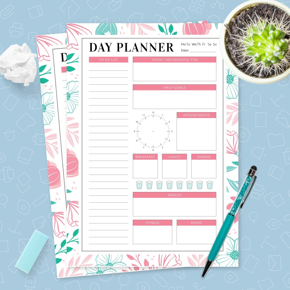 Download Printable Daily Goals and To Do List Template