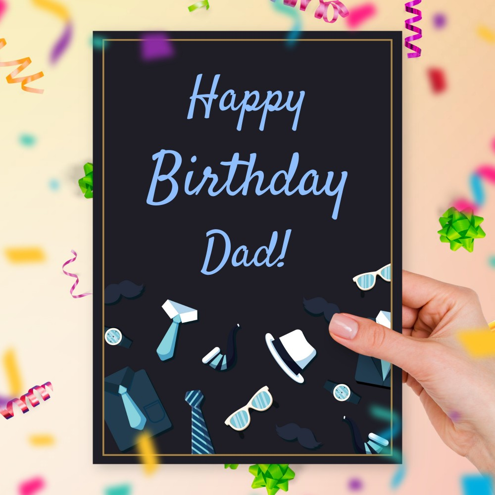 Customize and Download Father's Birthday Card