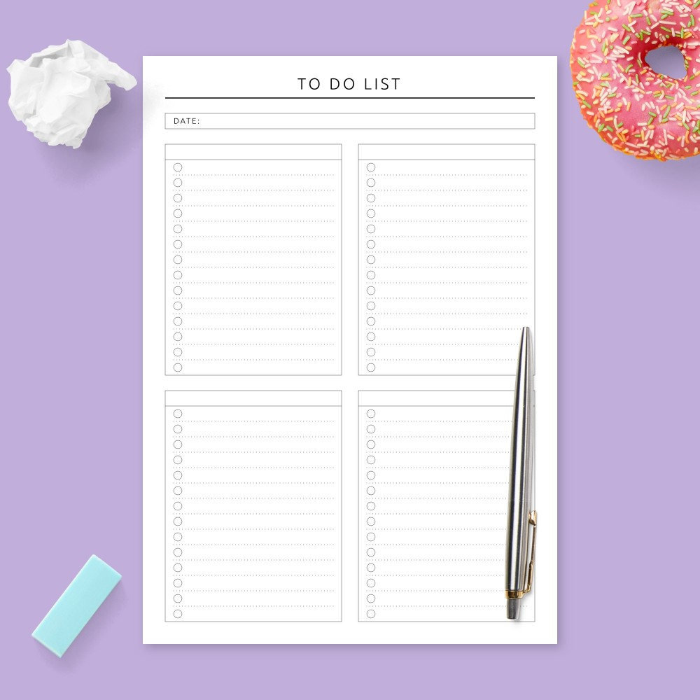 Download Printable Formal Daily To Do List Template