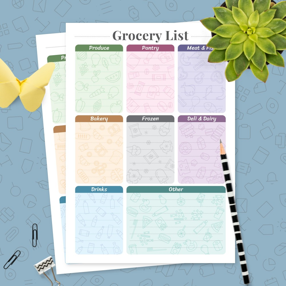 Download Printable Market Shopping List Template