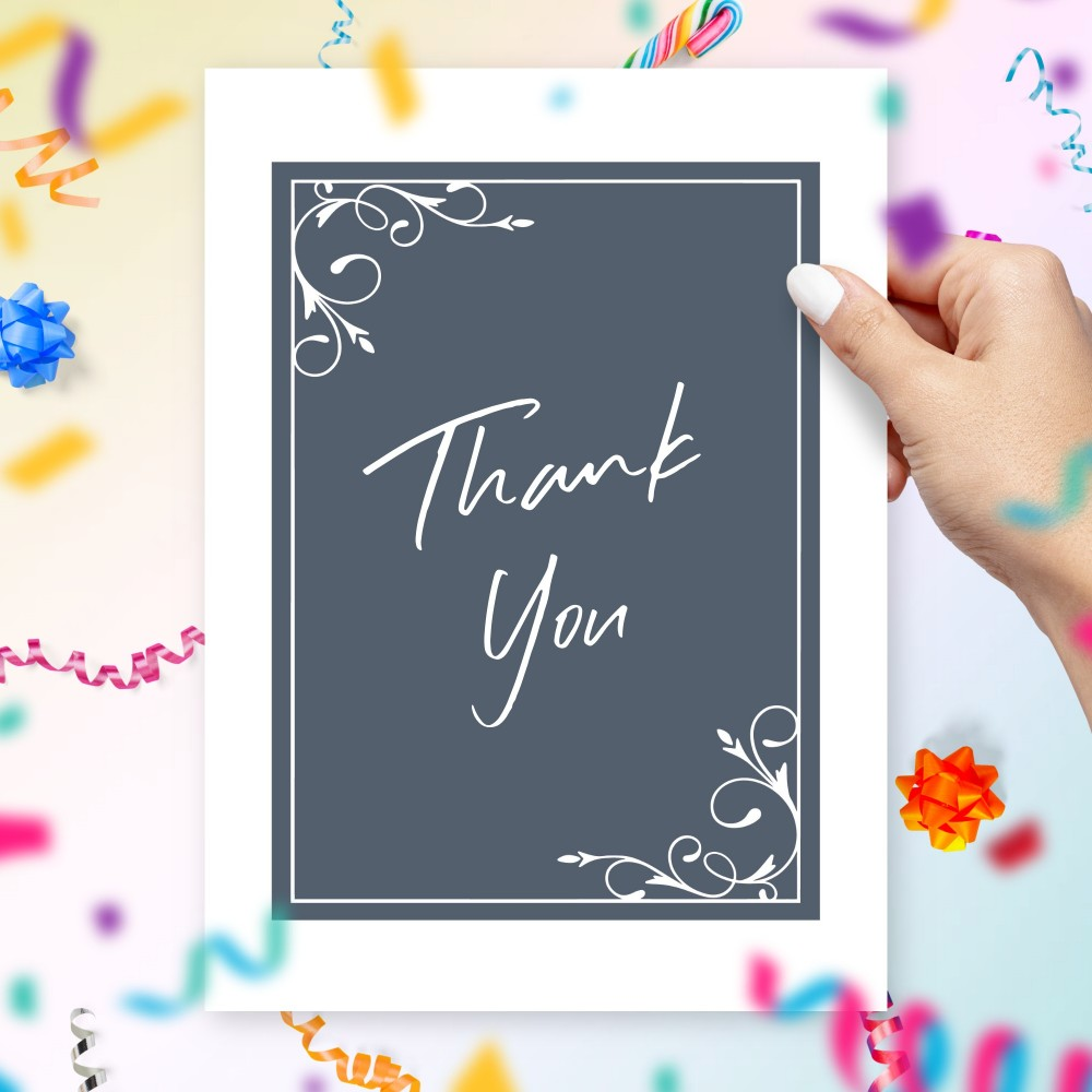 Customize and Download Minimalist Vintage Thank You Card