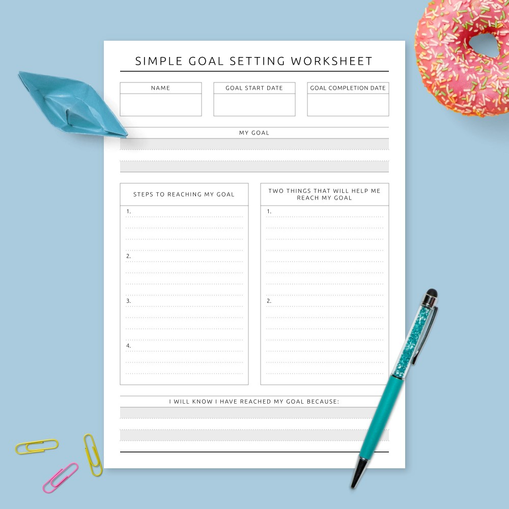 Download Printable Personal Goal Planning - Formal Design Template