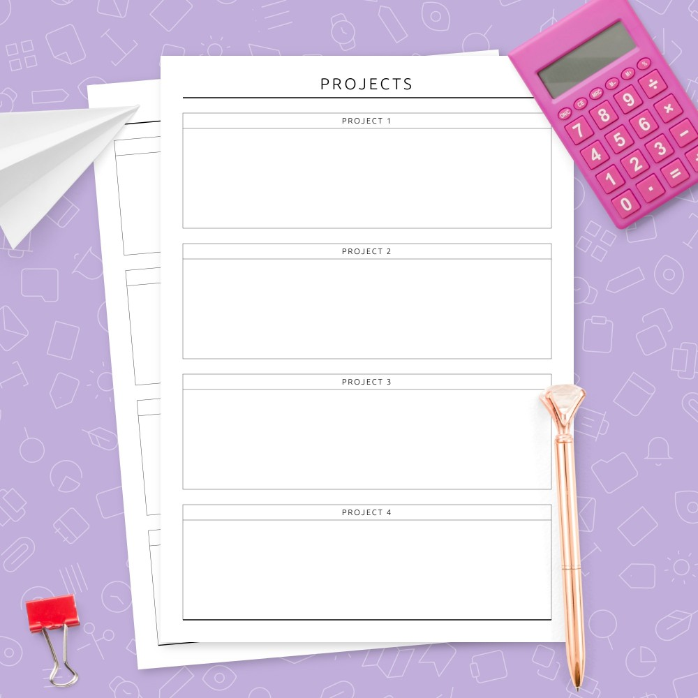 Download Printable Projects Overview Template Template