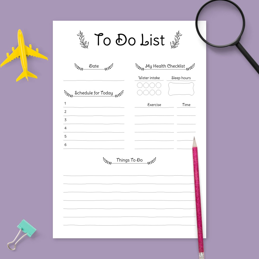 Download Printable Rustic Daily To Do List Template