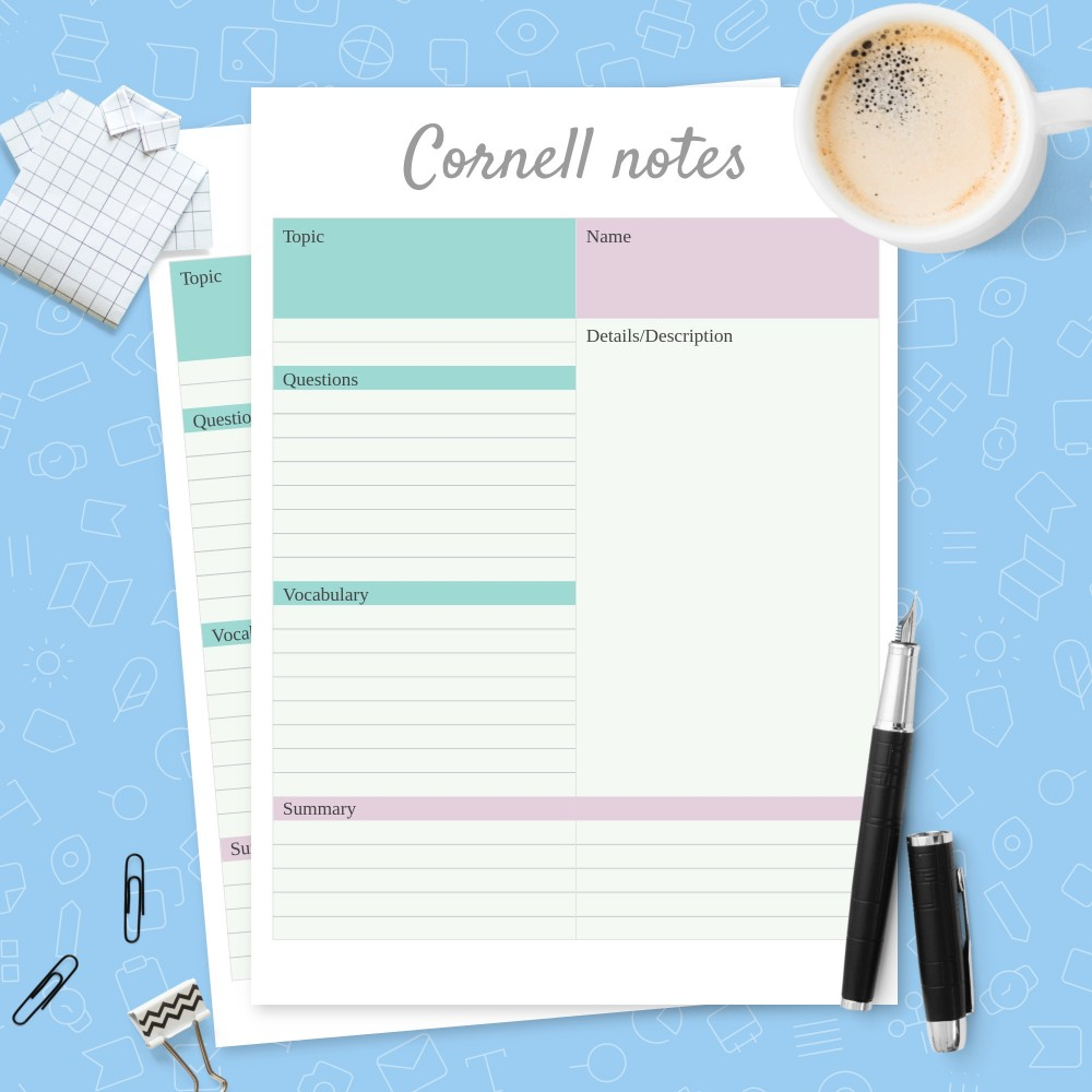 Download Printable Simple Cornell Notes Template Template