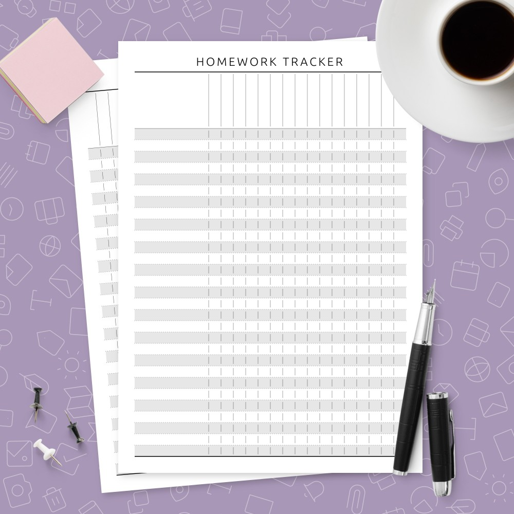 Download Printable Teacher Homework Tracker Template Template