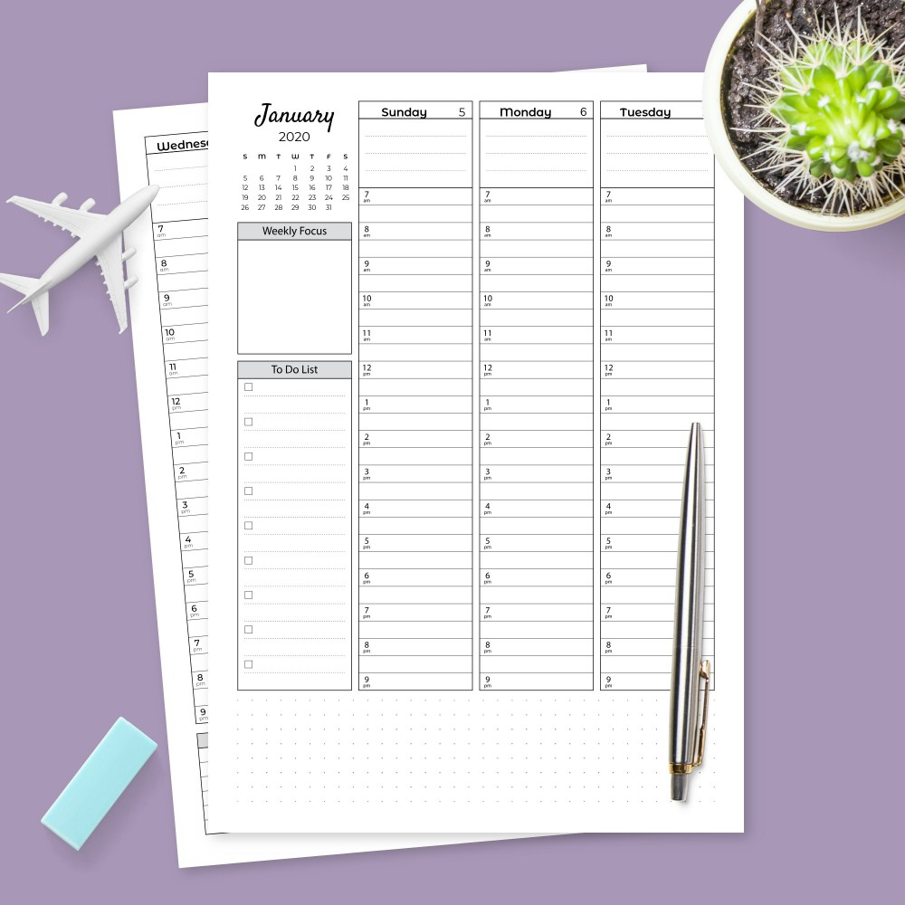 Download Printable Weekly Organizer And To Do List Template
